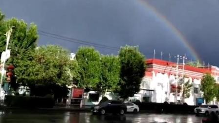 现场眼 可遇不可求!拉萨上空雨后现双彩虹奇景