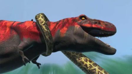 侏罗纪恐龙, 霸王龙vs泰坦蟒