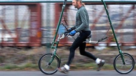 没有链条脚蹬的自行车, 想走全靠两条腿, 网友: 怎么刹车?