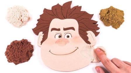 迪斯尼残骸它拉尔夫2面蛋糕 太空沙迪斯尼木偶做法 动力沙玩法 手工DIY 俊和他的玩具