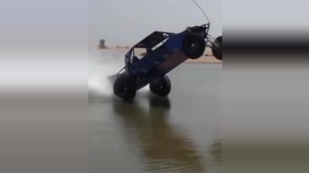 汽车水上漂, 这提速太猛了