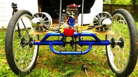 牛人打造喷气动力自行车, 太拉风了!