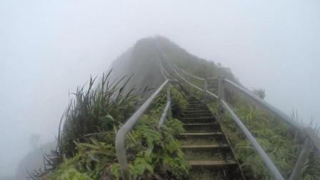 一座惊险无比的阶梯 曾因太危险被禁止使用