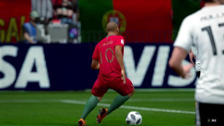 FIFAOL4俄罗斯世界杯半决赛上半场葡萄牙VS德国拉斐尔格雷罗一条龙C罗点球