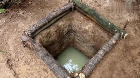 野外求生, 生存哥徒手挖了一口水井, 荒野生活太费劲啦, 彻底服了