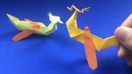 端午节幼儿园手工: 带划桨的龙舟船折纸, 简单几步能折出来!