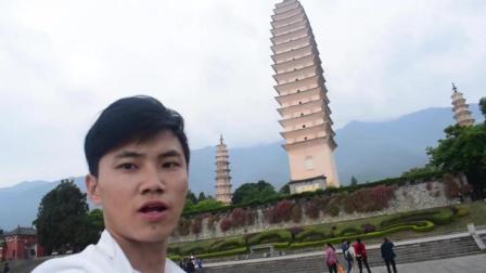实拍大理崇圣寺三塔, 你知道为什么有两个塔是斜着的吗?