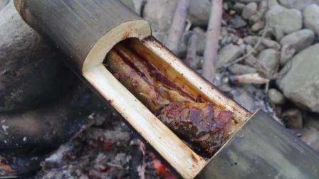 【野味小哥全集】原始美味48 竹筒蒸黄鳝