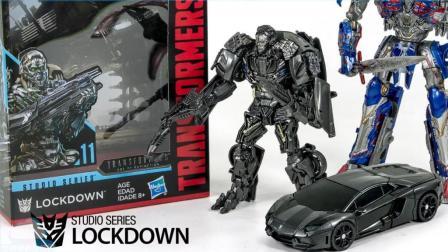 变形金刚 兰博基尼卡车汽车变身机器人玩具 【 俊和他的玩具们 】