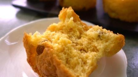 3个鸡蛋, 2勺面粉, 教你不用一滴油做蜂蜜葡萄干蛋糕
