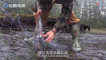 野外生存,学会这项技能,捕捉大鱼真的轻而易举!