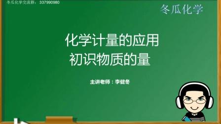 高中化学必修一第一章《从实验学化学》第一节初识物质的量