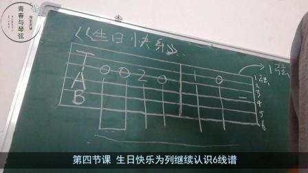 一分钟学吉他-------第四课 生日快乐为列认识六线谱