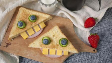 一朵美厨: 怪兽吐司三明治——吐司的第N+1种吃法