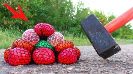 用大锤子砸抗压球, 会发生什么事?