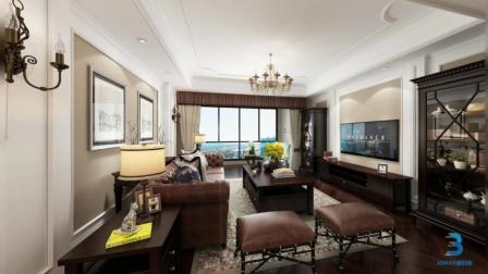 现代风格普通住宅, 真皮沙发再次提升客厅装修档次, 很喜欢