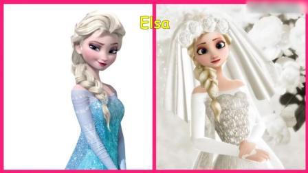 冰雪公主艾莎披上婚纱, 美得惊人! 迪士尼公主们披上婚纱