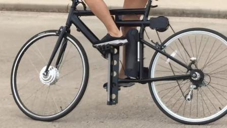 上下蹬的自行车, 得站着骑, 最快时速80公里