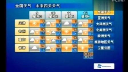 2009年12月 - TVB星河天气预报界面