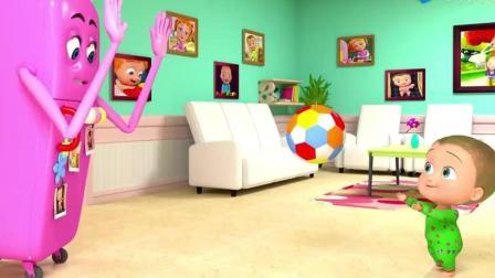 3D亲子动画, 宝宝和冰箱打球, 吃冰淇淋!