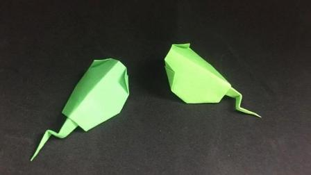 小朋友都喜欢的小蝌蚪折纸, 简单易学, 最主要的是非常可爱!
