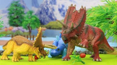 小三角恐龙小角长大了, 学会遇到问题想办法解决, 成功地帮五角龙把礼物送给了剑龙叔叔