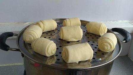 3杯酸奶2碗面粉, 一擀一卷, 教你做简单又美味的馒头, 比面包好吃