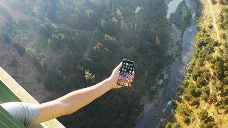 老外从300米高的桥上扔下iPhone X, 看结果你还会花10000买它吗?