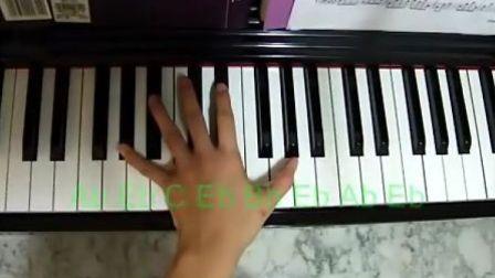 钢琴教学- Kiss the Rain 左手(1) 真人教学版