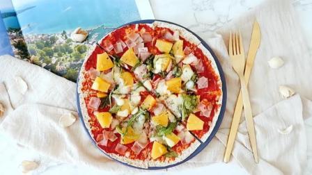 快手低脂早餐披萨, 20分钟完成!