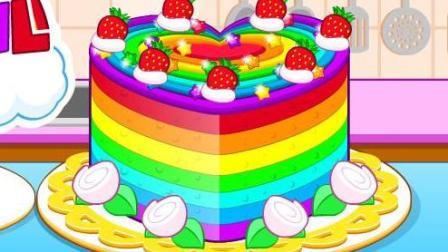 五颜六色的蛋糕小游戏