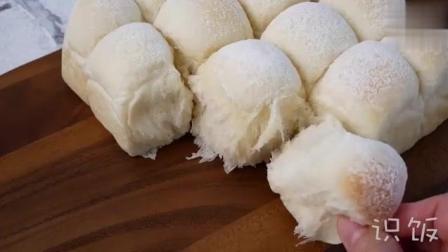 自制牛奶软面包, 松软的早餐面包了解一下!