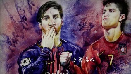 用沙画描绘世界球星 玩转世界杯