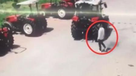 销售员离职前一天 惨遭自家拖拉机碾压身亡