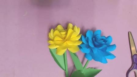 """创意剪纸DIY, 教你剪纸制作""""盛开玫瑰花""""的方法, 非常漂亮"""