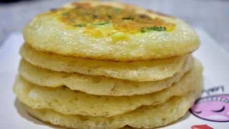 1碗面粉, 2个鸡蛋, 教你做好吃的发面早餐饼, 营养美味做法简单