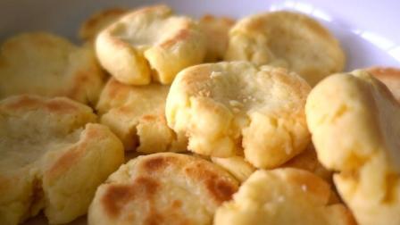 用一口锅把饼干煎出来, 不需要烤箱, 照样可以做出无糖酥脆的小饼干