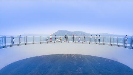 河南|新密 伏羲山红石林景区|玻璃环廊