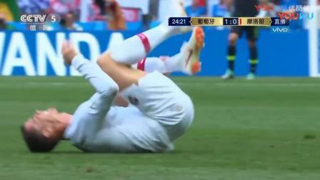 又是C罗, 简直厉害炸了, C罗风骚跑位头球破门 葡萄牙1-0摩洛哥