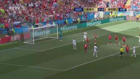 葡萄牙vs摩洛哥射门集锦, 看C罗如何拯救葡萄牙队