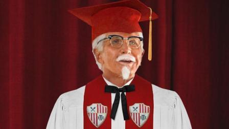 """""""肯德基爷爷""""现身毕业典礼 向学生们传授人生经验"""