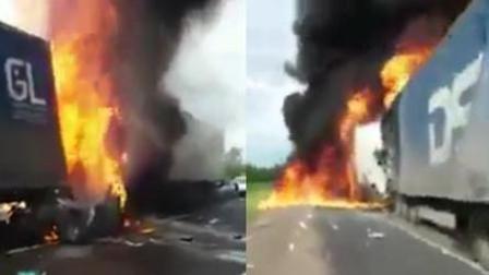 夫妇路遇车祸烧成火球 尖叫救命被活活烧死