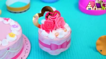 儿童手工仿真奶油儿童手工DIY玩具 制作奶油蛋糕、冰淇淋