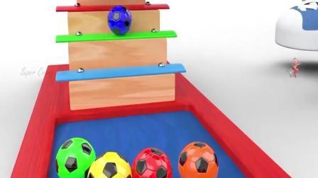 少儿动画片 少儿早教益智卡通动漫 足球趣味彩虹色彩 儿童教育学习颜色