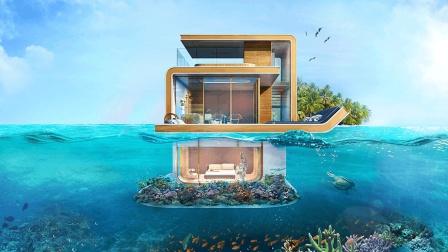 有钱人专属: 漂浮在海上的别墅, 一套售价才2100万?
