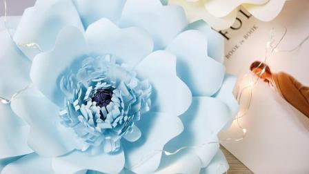 纸花教程31: 漂亮的多层花蕊卡纸花制作方法