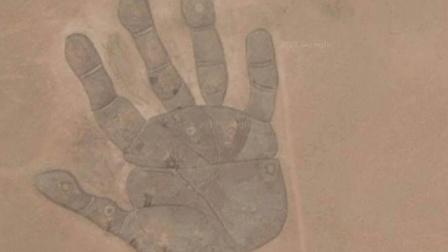 内蒙古地图放大后, 为什么会出现一个大手印?