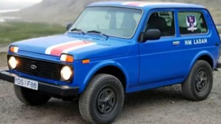 冰岛球迷自驾拉达汽车看世界杯