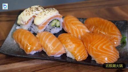 日式料理: 绝对有食欲的高颜值三文鱼寿司! 火焰融化芝士的那刻口水要流了