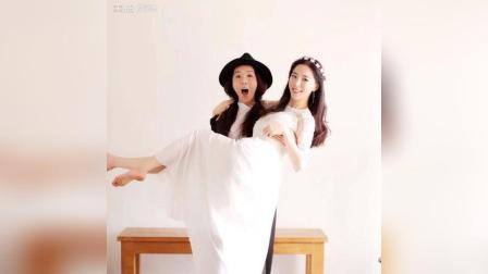 美拍视频: 两个女生的婚纱照#自拍#